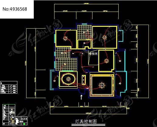灯具控制图cad素材下载