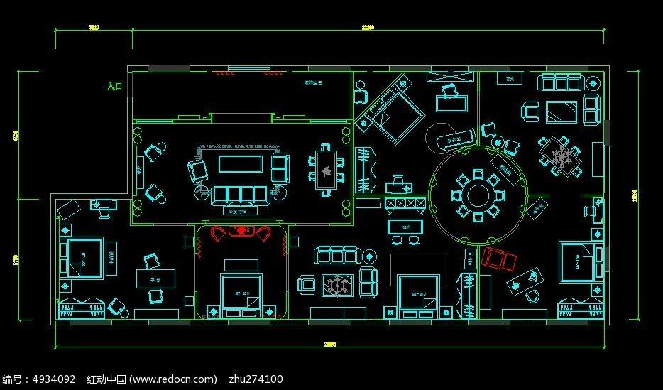 家具卖场平面布置图