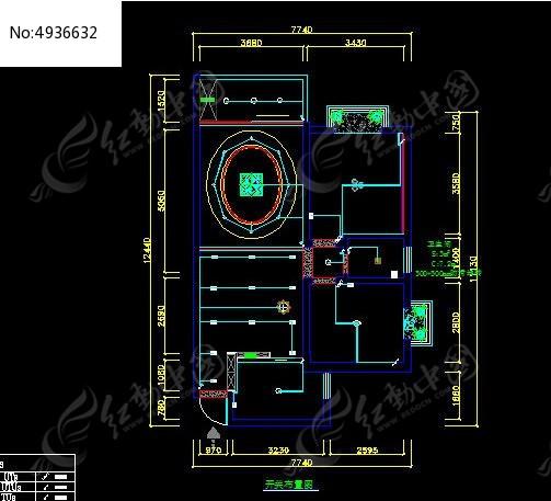 开关布置图_CAD图纸图片素材cad线段设置多图片