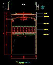 欧式古典风格中空别墅栏杆设计立面图