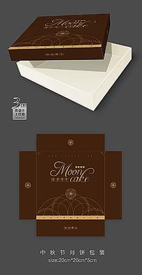 深色欧式风格月饼包装