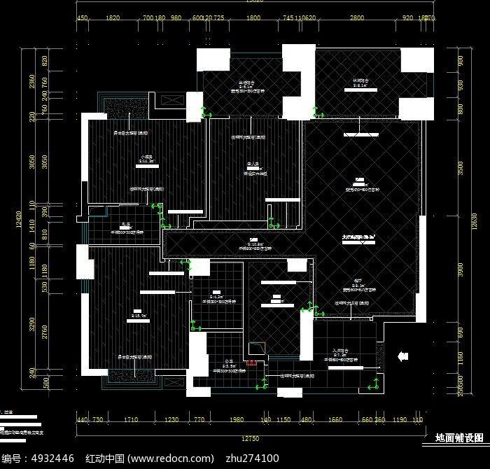 田园欧式风格地面铺装布置图  请您分享: 素材描述:红动网提供室内