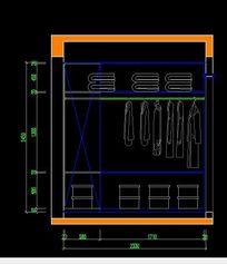 现代卧室衣柜内部结构图