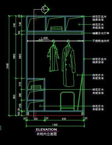 宾馆行政套房衣柜内部结构图