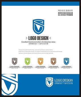 科技电子网络工程防护标志设计