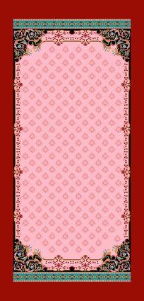 四边定位围巾印花花型碎花底纹