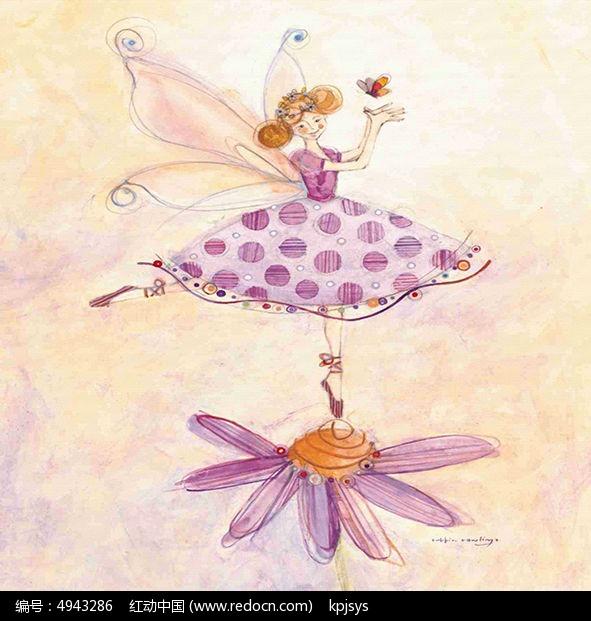 舞蹈花朵装饰画设计图片