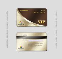棕色高级会所VIP卡模板