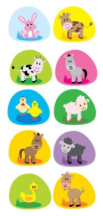 10款可爱的卡通农场小动物矢量素材