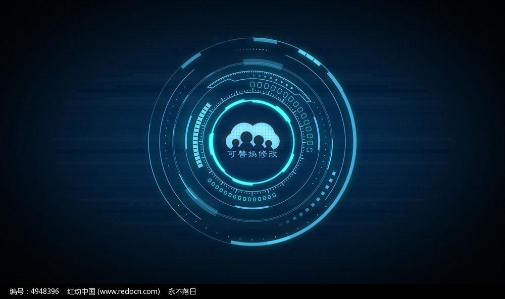 高科技标志展示ae模板