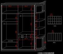 简欧别墅小孩房大衣柜内部结构图