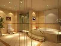 酒店欧式卫浴效果图