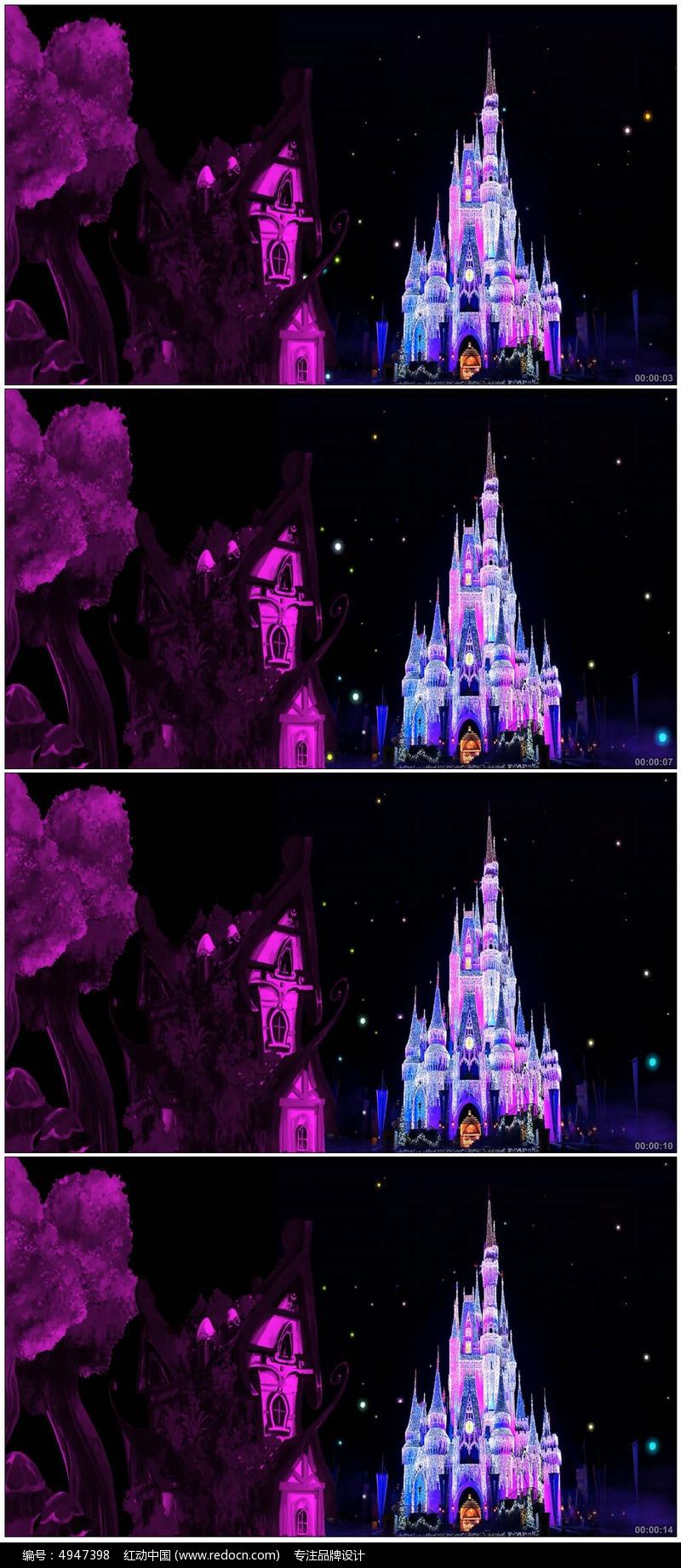 卡通夜光梦幻城堡图片