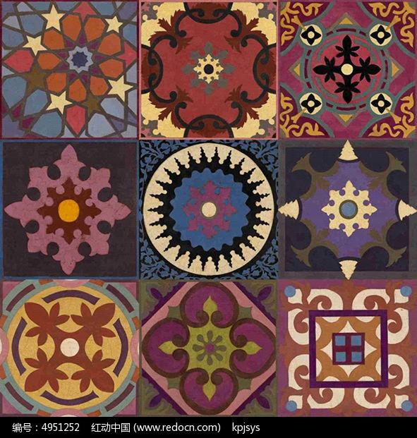欧美古典装饰画花纹设计
