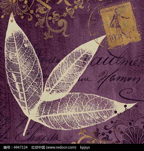 欧美树叶装饰画设计模板图片