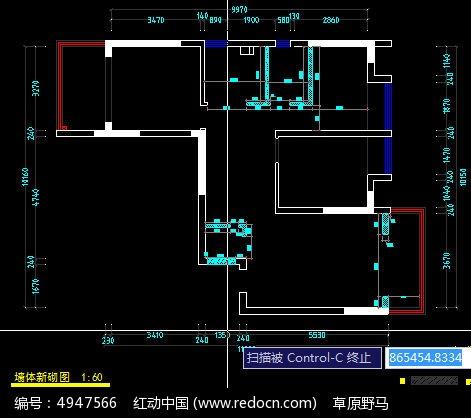 建房图_CAD图纸图片素材米宽8砌墙10米长图纸图片