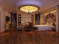奢华欧式卧室效果图