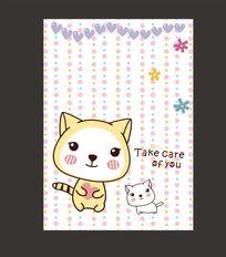 精美记事本可爱猫咪卡通本子封面