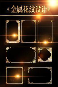 金属中式花纹边框相框设计 PSD