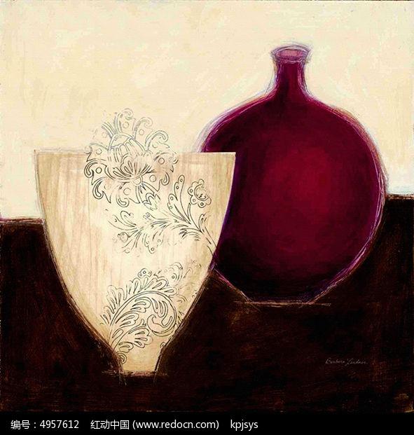 欧美复古风格瓶子装饰画设计