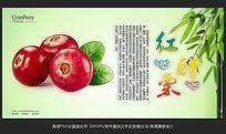 清新唯美水果店红醋栗海报招贴广告设计