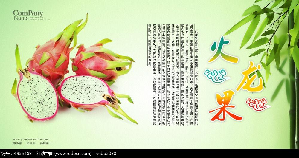 清新唯美水果店火龙果海报招贴广告设计图片