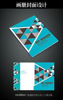 时尚三角图案画册封面模板
