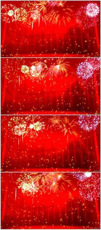 2016猴年烟花焰火红色喜庆晚会