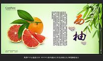 大气水果店西柚海展板设计