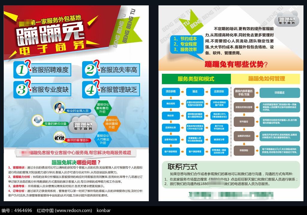 电子商务宣传单设计模板cdr素材下载