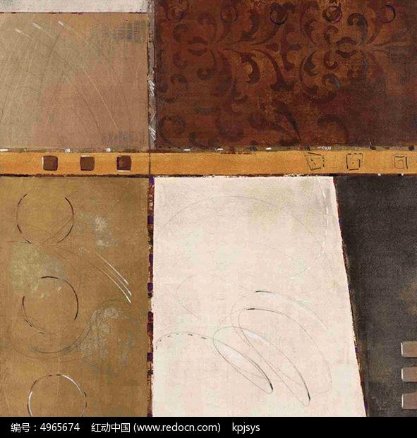复古欧式拼图风格装饰画设计图片