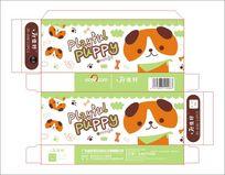 韩国儿童插画小狗笔盒设计