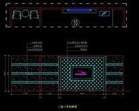 皇家贵族酒吧KTV二层11号包间电视墙立面图