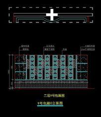 皇家贵族酒吧KTV二层9号大包间造型墙面立面图