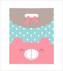 可爱卡通熊礼品袋设计