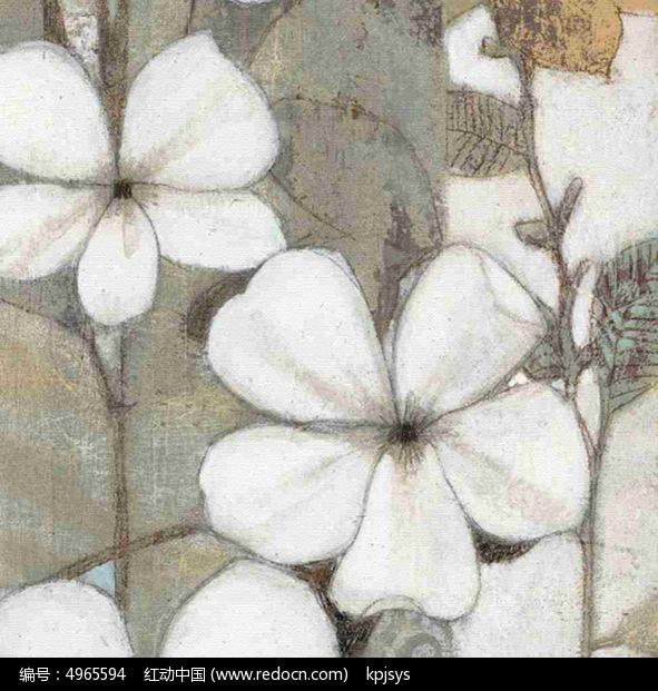 欧式油画风格花装饰画设计