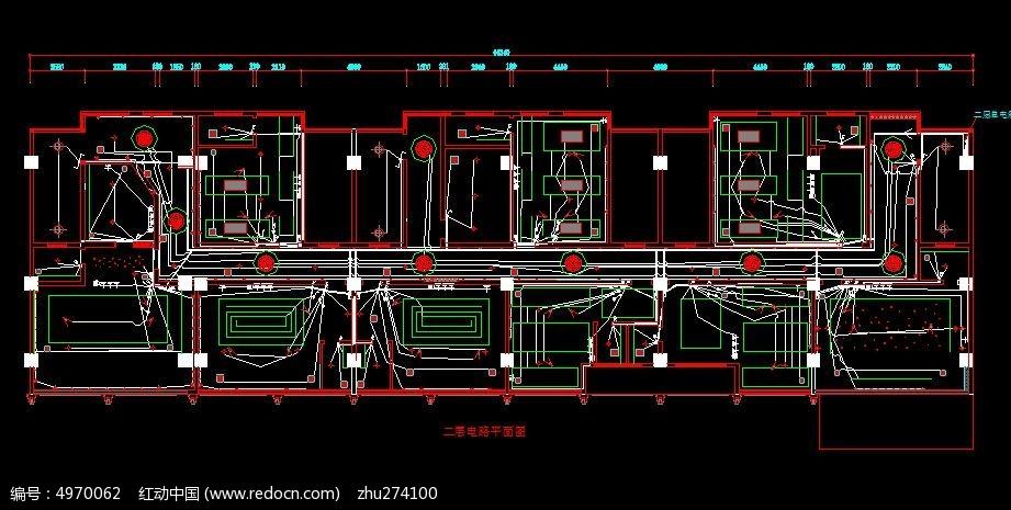 山村酒吧二层电路布置图