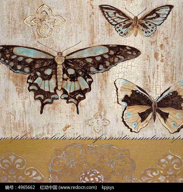 时尚简约蝴蝶装饰画设计图片