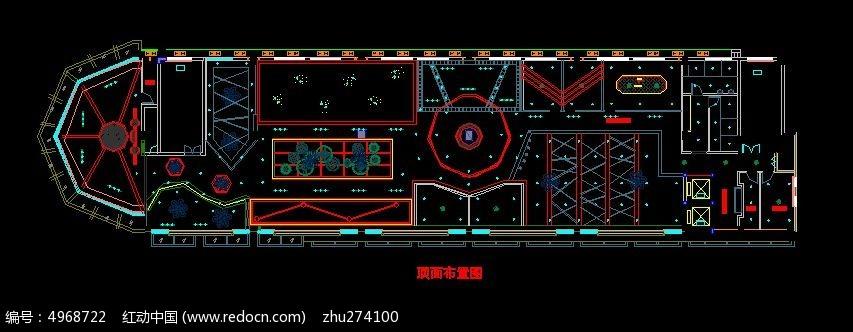 太空风格网吧顶面造型布置图