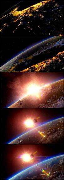 震撼宇宙太空卫星地球视频素材