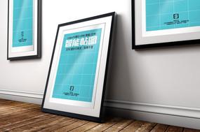 办公室走廊挂画相框海报智能贴图