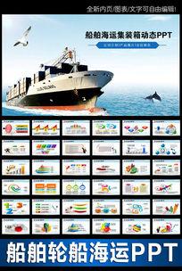 港口码头物流海运船舶PPT模板