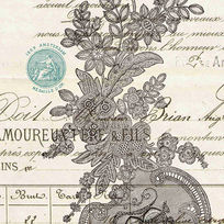 古典花纹图案素雅装饰画设计模板