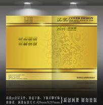 黄金花纹背景封面设计