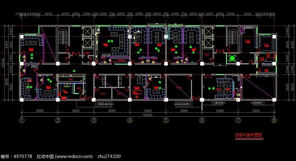 假日酒店KTV四层平面布置图_CAD图纸图片素