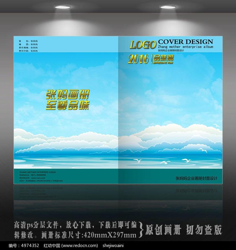 天空蓝色产品海洋封面设计PSD素材下载_农夫海鸥封面包装设计图片