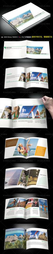 欧美世界旅游画册设计模板