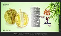 清新唯美水果店榴莲海报招贴广告设计