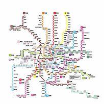 上海地铁路线图 AI