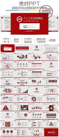2016红色严谨型工作项目计划ppt模板